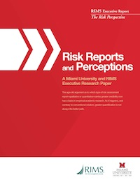 Risk Reports and Perceptions