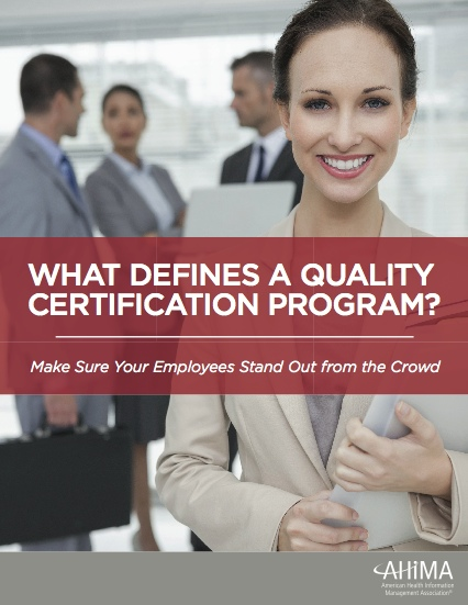 What defines a quality certification pro...