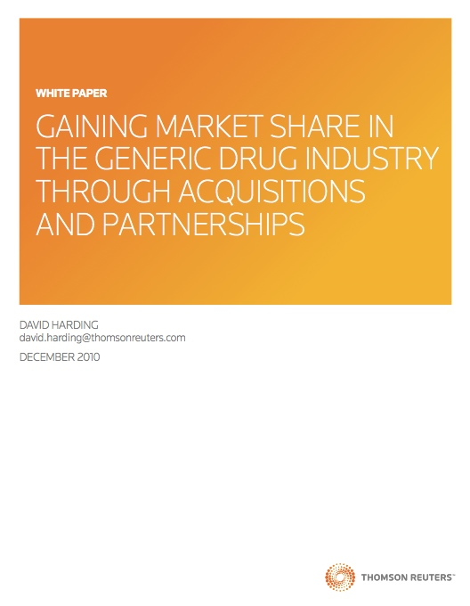 Gaining Market share in the generic drug...