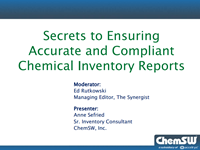 Secrets to Ensuring Accurate and Compliant Chemical Inventory Reports