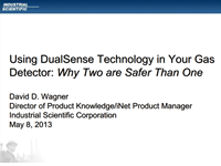 Using DualSense Technology in Your Gas Detector: Why two are safer than one