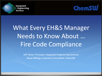 What Every EH&S Manager Needs to Know About ... Fire Code Compliance