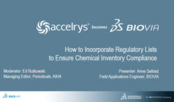 How to Incorporate Regulatory Lists to Ensure Chemical Inventory Compliance