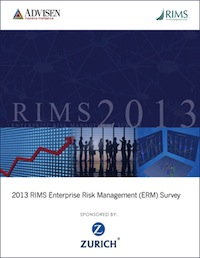 2013 RIMS Enterprise Risk Management Survey