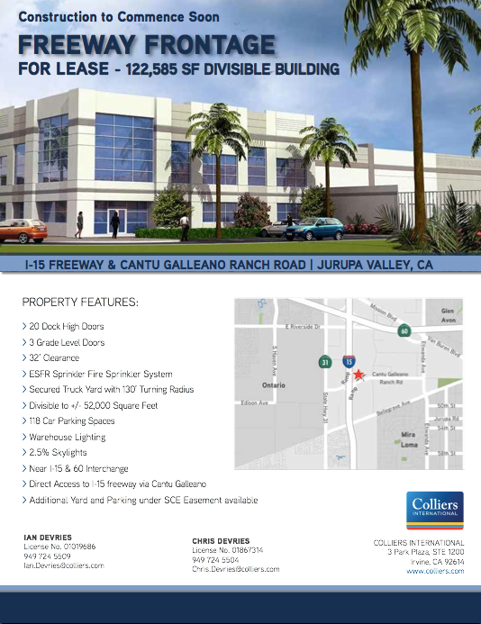 Freeway Frontage 122,585 SF