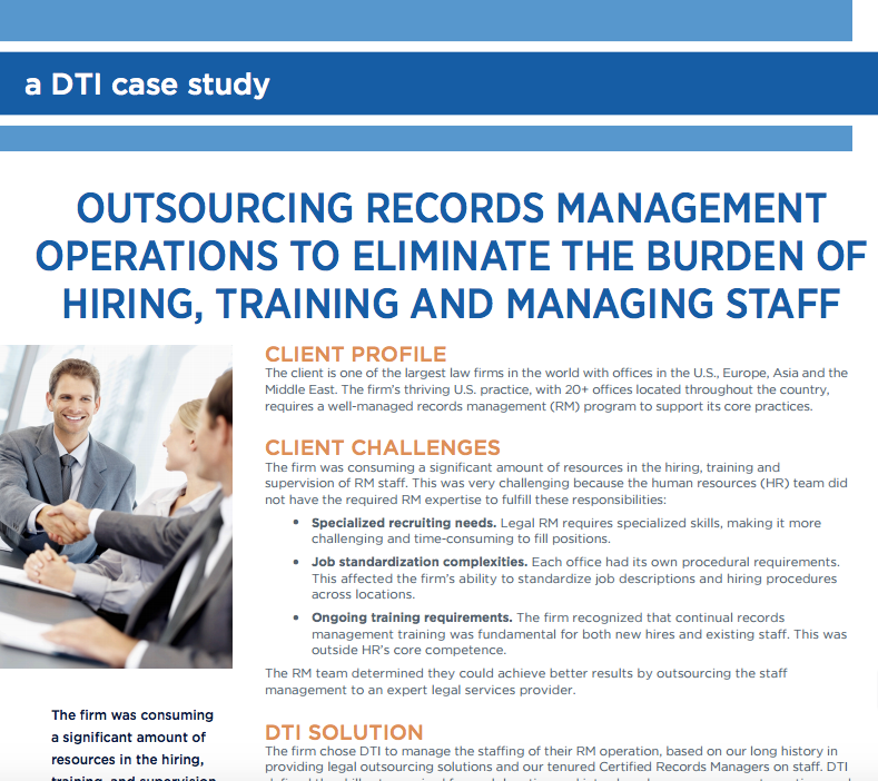 A DTI Case Study - Records Management